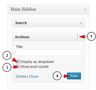 wordpress widget plugin archives