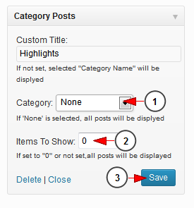 activate wordpress widget category post