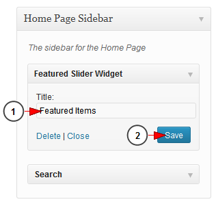 activate wordpress featured slider widget