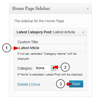 activate wordpress widget latest posts