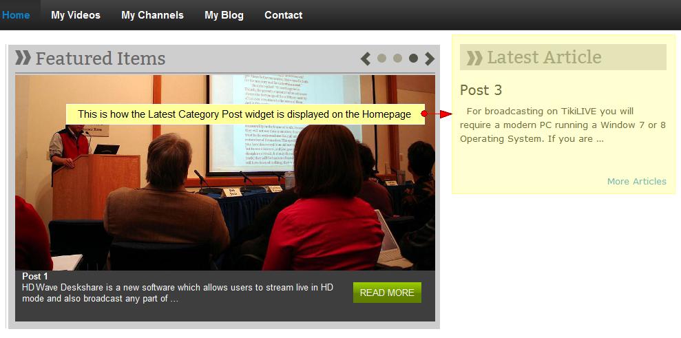 wordpress widget latest category posts