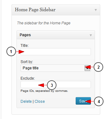 activate wordpress widget pages