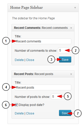 wordpress widget recent comments